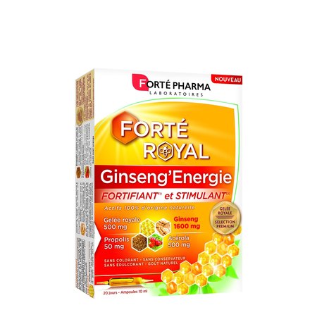 Forté Royal Ginseng'Energie Fortifiant & Stimulant - 20 ampoules de 10ml - Forte Pharma