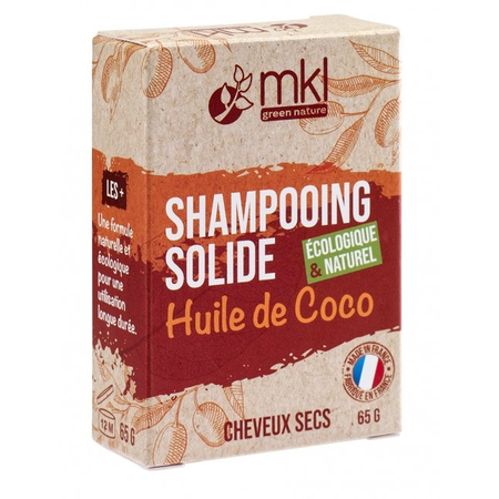 Shampooing Solide Huile de Coco - 65g - MKL Green Nature