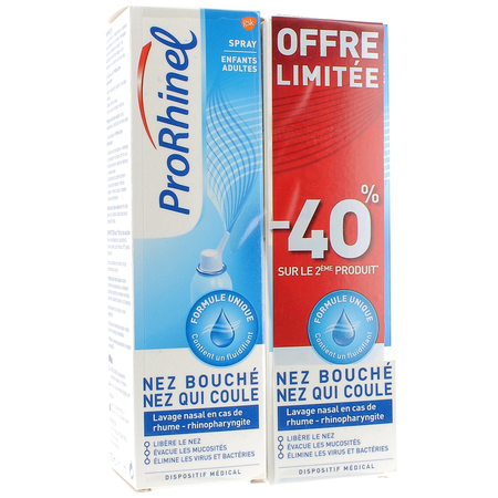 Spray Adultes & Enfants OFFRE SPECIALE - 2x100ml - ProRhinel