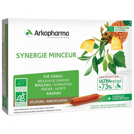 Arkofluides Synergie Minceur Bio - 20 ampoules - Arkopharma