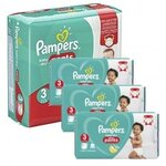 286 Couches Pampers Baby Dry Pants taille 3
