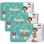 520 Couches Pampers Baby Dry Pants taille 3