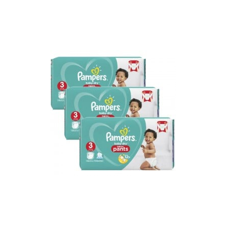 520 Couches Pampers Baby Dry Pants taille 3 - PAMPERS