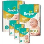380 Couches Pampers Premium Care taille 3