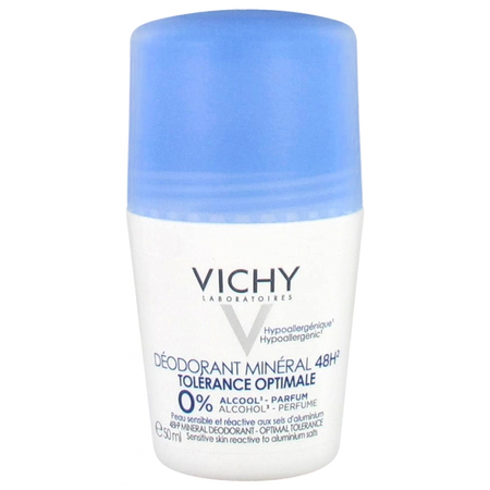 Déodorant Minéral 48H Tolérance Optimale Roll-On - 50ml - Vichy Laboratoires
