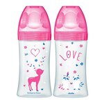 Coffret Biberons Sensation + Fuschia 0-6m Lot de 2 x 270ml