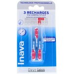 Brossettes 3 Recharges Large 4 - 3mm Rouge