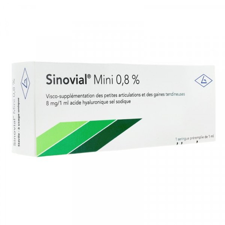 Mini 0,8% Acide Hyaluronique - 1 seringue de 1ml - Sinovial