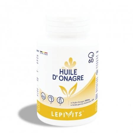 Huile d'Onagre 500mg - 60 capsules - Lepivits