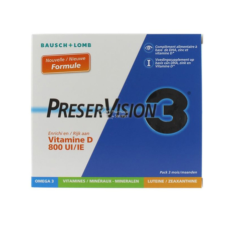 PreserVision 3 Vitamine D - 180 capsules - Bausch & Lomb
