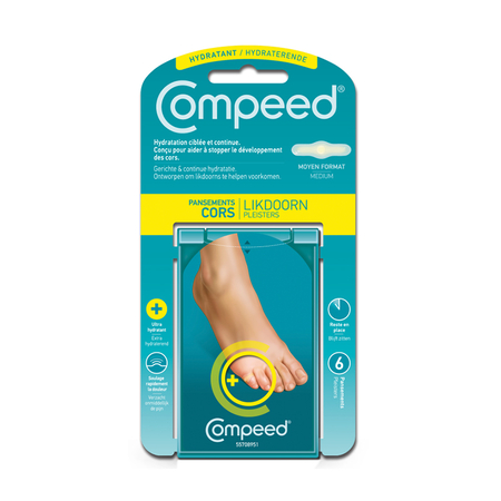 Pansement Cors Hydratant Innovation 2012 6 unités - Compeed