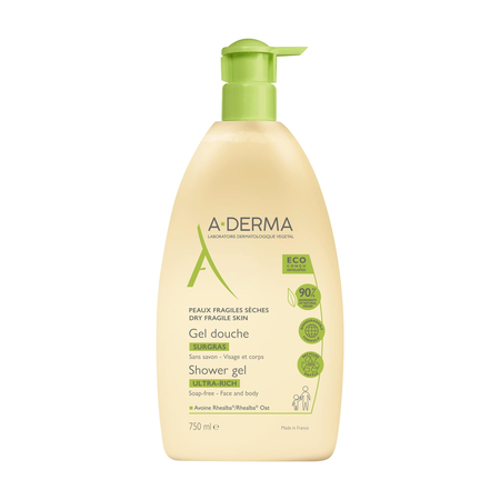 Gel douche surgras au lait d'avoine - 750 ml - A-Derma