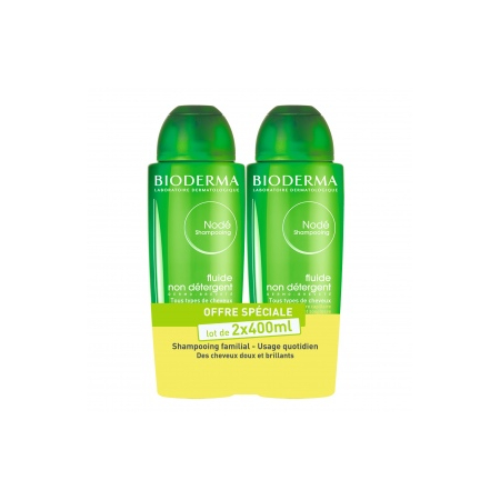 Nodé Shampoing soin - Lot 2 x 400 ml - Bioderma