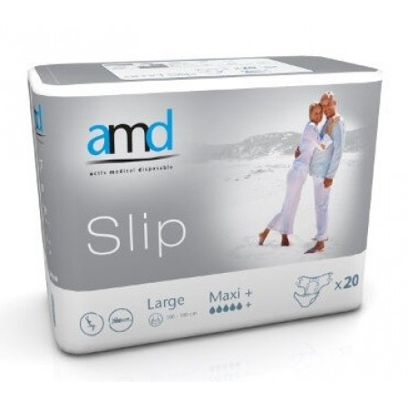 Slip Maxi+ - Taille Large - 20 changes complets - AMD