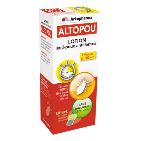 Altopou Lotion anti-poux anti-lentes<br/>Dispositif médical