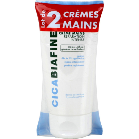 Cicabiafine reparation intense mains creme 75ml x2