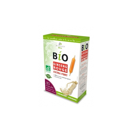 Ampoules Bio Ginseng Rouge Extra Fort - Les 3 Chênes