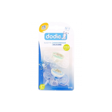 DODIE SUCETTE SILICONE NUIT 2AGE X2 - Dodie