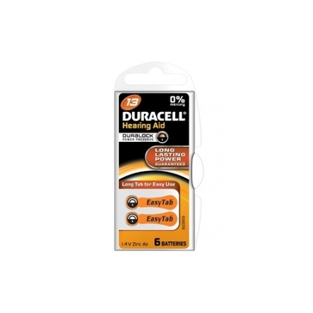 DURACELL EASYTAB PILE AUDITIVE 13 ORANGE