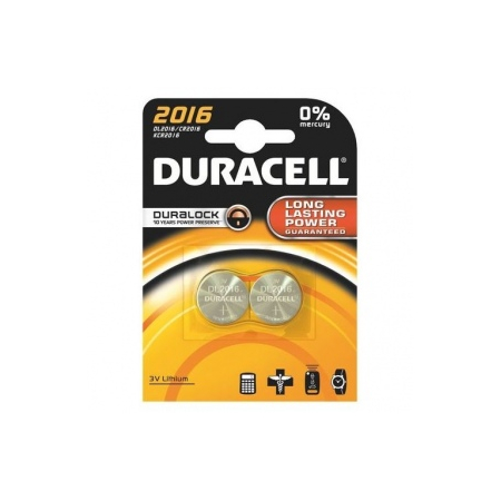 DURACELL PILE BOUTON 2016 X2 - Duracell