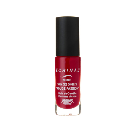 Vernis Soin des Ongles Rouge Passion - 6ml - Ecrinal