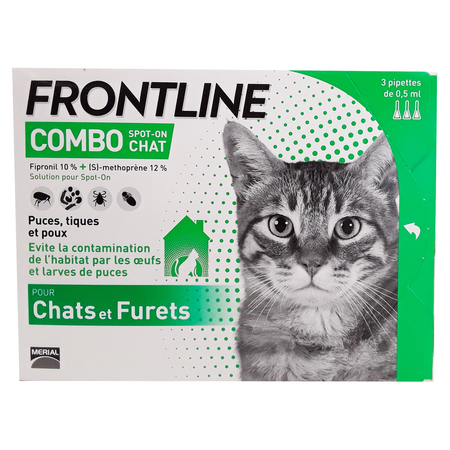 Combo Spot-on Chat & Furets - 3 Pipettes 0.5ml - Frontline
