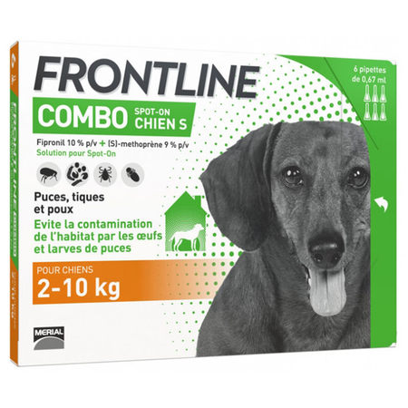Combo Spot On Chien S 2-10kg - 6 pipettes - Frontline