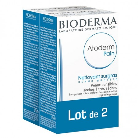 Atoderm Pain Surgras - Lot de 2 pains de 150 g