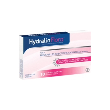 HydralinFlora traitement mycoses vaginales - 10 capsules - Hydralin