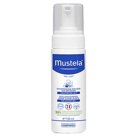Peau normale - Shampoing mousse nourrisson - 150 ml - Mustela