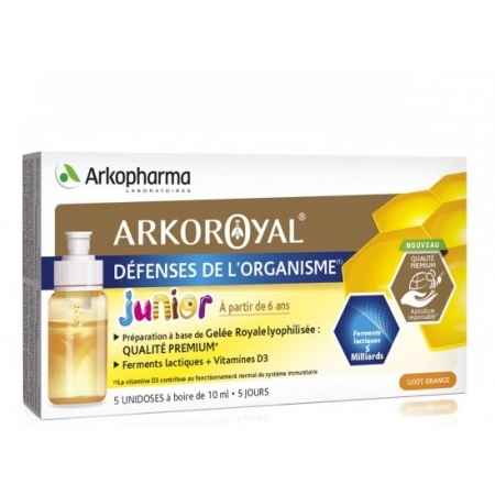 Arkoroyal défenses de l'organisme junior - 5 unidoses de 10 ml - Arkopharma