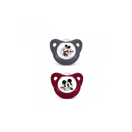 Sucette Trendline Mickey Rouge Taille 1 lot de 2