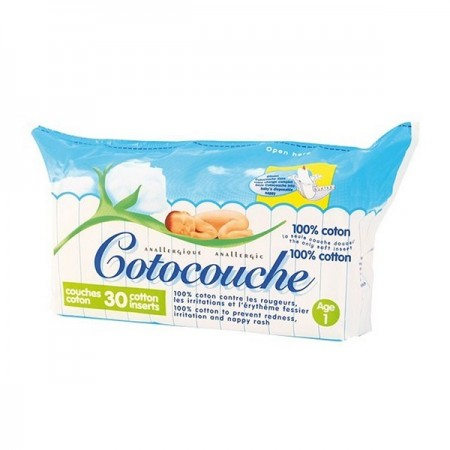 Couches anallergiques anti-irritations 1er âge - 30 couches - Cotocouche