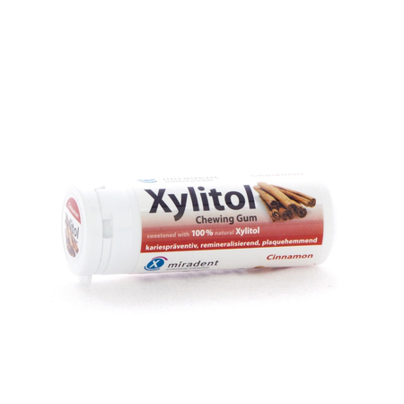 Miradent Xylitol Chewing Gum Cannelle - 30 gommes - Miradent
