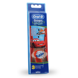 brossettes de rechange oral b stages kids cars pack de 3. Black Bedroom Furniture Sets. Home Design Ideas