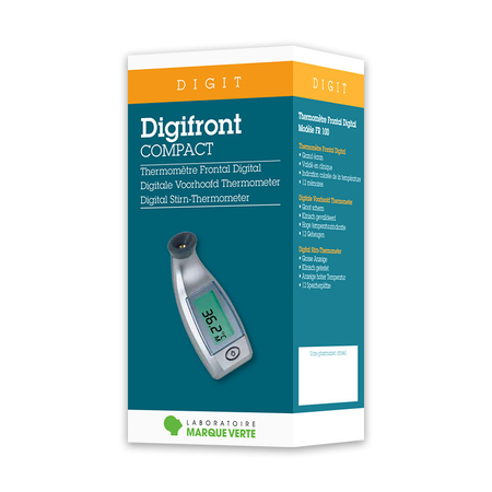 Digifront Compact Thermomètre Frontal Digital - Marque Verte