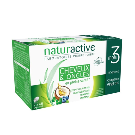 Doriance Cheveux & Ongles - 2 x 45 capsules - Naturactive