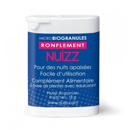 Nuizz - Ronflement Micro Biogranules - 60 granules - Phytoresearch