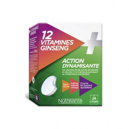NUTRISANTE MULTIVITAMINE + GINSENG CPR CROQ 12 X2