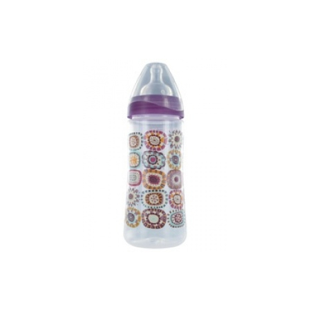 Biberon col large anti-régurgitation - Violet 360 ml