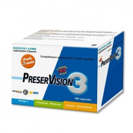 Preservision 3 Pack 3 mois - 180 capsules - Bausch & Lomb