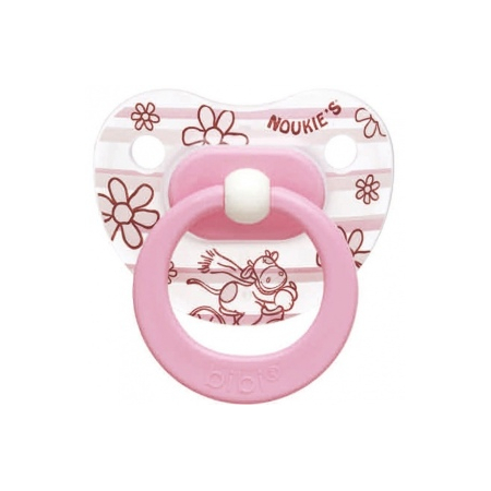 Noukie's Sucette Physiologique Silicone T2 Fille - x1
