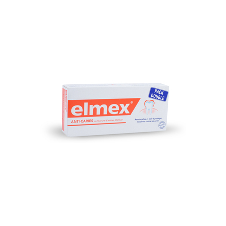 Dentifrice Protection Caries - 2 tubes 75ml - Elmex