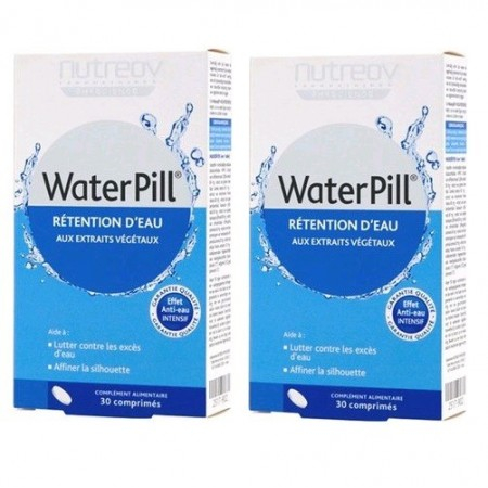 WaterPill Rétention d'eau - 2 x 30 comprimés - Nutreov Physcience