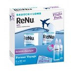 Renu MPS Flight Pack - Solution pour lentilles multifonctions - 2x60 ml + Zip-bag