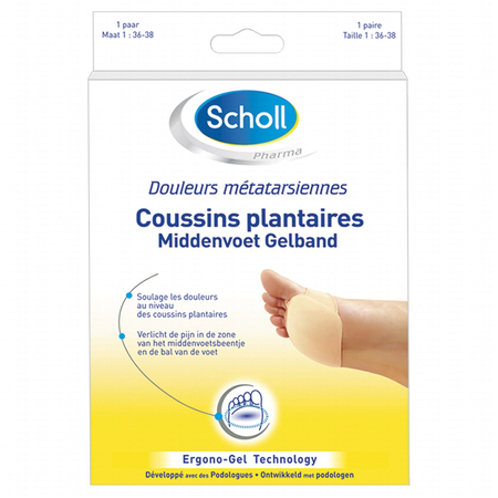 Coussins Plantaires Taille 36-38 - Scholl